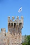 Castillo de Kamerlengo en Trogir, Croacia - detalles arquitectónicos Foto de archivo