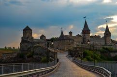 Castillo de Kamianets-Podilskyi Fotografía de archivo