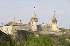 Castillo de Kamianets-Podilskyi, Ucrania Fotografía de archivo libre de regalías