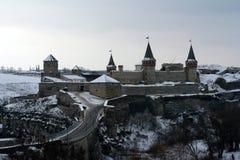 Castillo de Kamyanets-Podilsky, Ucrania Foto de archivo