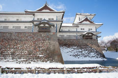 Castillo de Kanazawa foto de archivo