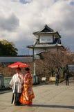 Castillo de Kanazawa, Japón fotografía de archivo libre de regalías
