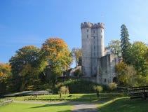 Castillo de Kasselburg en Vulkaneifel, Renania-Palatinado, Alemania Imágenes de archivo libres de regalías