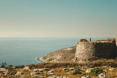 Castillo de Kelefa en Grecia fotografía de archivo libre de regalías