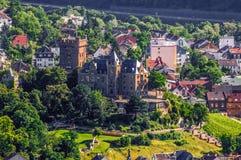 Castillo de Klopp en Bingen Rhin, Renania-Palatinado Imagen de archivo libre de regalías