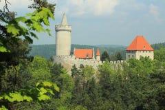 Castillo de Kokorin Fotos de archivo libres de regalías