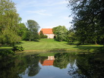 Castillo de Krapperup en Nyhamnsläge Imagen de archivo