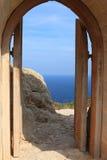 Castillo de Kritinia Puertas al mar Imagenes de archivo