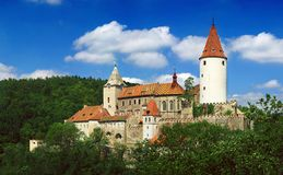 Castillo de Krivoklat Imagen de archivo libre de regalías