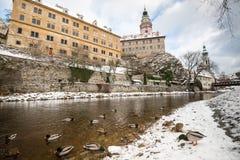Castillo de Krumlov, República Checa fotos de archivo