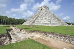 Castillo DE kukulcan bij chichen-itza royalty-vrije stock foto's