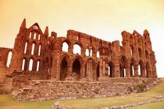 Castillo de la abadía de Whitby Fotos de archivo