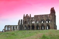 Castillo de la abadía de Whitby Imagen de archivo libre de regalías
