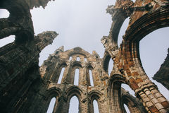 Castillo de la abadía de Whitby Foto de archivo libre de regalías