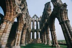 Castillo de la abadía de Whitby Imagenes de archivo