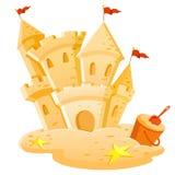 Castillo de la arena ilustración del vector