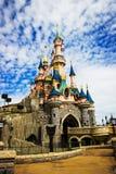 Castillo de la bella durmiente en Disneyland París, editorial de Eurodisney Acción de la foto Fotografía de archivo