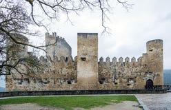 Castillo de la ciudad de Frias Burgos, España fotografía de archivo libre de regalías