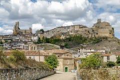 Castillo de la ciudad de Frias Burgos, España imagen de archivo libre de regalías
