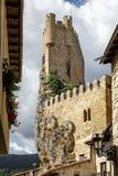 Castillo de la ciudad de Frias Burgos, España imagen de archivo