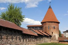 Castillo de la ciudad de Kaunas Fotos de archivo