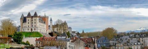 Castillo de la ciudad de Pau en Francia foto de archivo