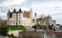 Castillo de la ciudad de Pau en Francia fotografía de archivo