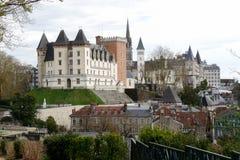 Castillo de la ciudad de Pau en Francia imagen de archivo libre de regalías