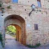 Castillo de la ciudad vieja de Grottamare, Ascoli Piceno Foto de archivo