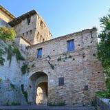 Castillo de la ciudad vieja de Grottamare, Ascoli Piceno Imagen de archivo libre de regalías