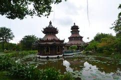 Castillo de la edad avanzada en Tailandia imagen de archivo libre de regalías