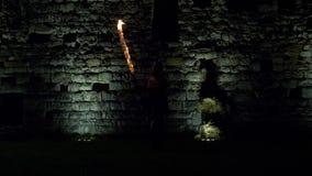 Castillo de la espada del fuego que lucha