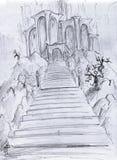 Castillo de la fantasía Imágenes de archivo libres de regalías