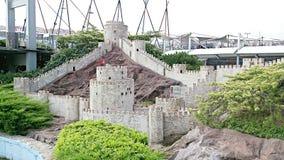Castillo de la fortaleza en Estambul Fotos de archivo