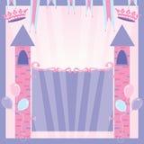 Castillo de la invitación de la fiesta de la princesa cumpleaños Fotos de archivo