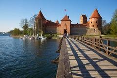Castillo de la isla de Trakai Imagen de archivo