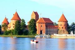 Castillo de la isla de Trakai Foto de archivo