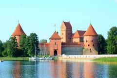 Castillo de la isla de Trakai Fotos de archivo libres de regalías