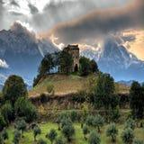 Castillo de la montaña Imagen de archivo libre de regalías