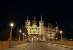 Castillo de la noche fotos de archivo