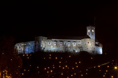 Castillo de la noche Fotografía de archivo