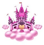 Castillo de la nube de la fantasía stock de ilustración