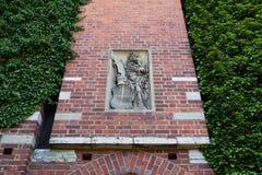 Castillo de la orden teutónica en Malbork Imagen de archivo libre de regalías