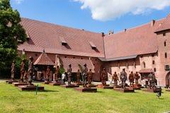 Castillo de la orden teutónica en Malbork Fotografía de archivo