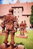 Castillo de la orden teutónica en Malbork Imagenes de archivo