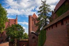 Castillo de la orden teutónica en Malbork Fotos de archivo libres de regalías