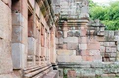 Castillo de la piedra de la arena de la pared fotografía de archivo