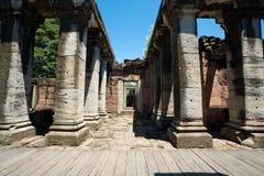 Castillo de la piedra de Phimai, Tailandia Imágenes de archivo libres de regalías