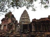 Castillo de la piedra de Phimai Foto de archivo libre de regalías