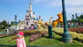 Castillo de la pista de Disney Fotografía de archivo libre de regalías